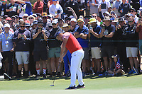 Bryson DeChambeau (USA) on the 15th green during the First Round - Four Ball of the Presidents Cup 2019, Royal Melbourne Golf Club, Melbourne, Victoria, Australia. 12/12/2019.<br /> Picture Thos Caffrey / Golffile.ie<br /> <br /> All photo usage must carry mandatory copyright credit (© Golffile | Thos Caffrey)