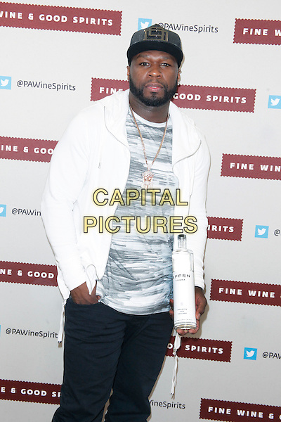 PHILADELPHIA, PA - APRIL 23 :  50 Cent ( Curtis Jackson )pictured at his Effen Vodka signing at Fine Wine and Good Spirits Premium Collection Store in Philadelphia, Pa on April 23, 2016   <br /> CAP/MPI09<br /> &copy;MPI09/Capital Pictures