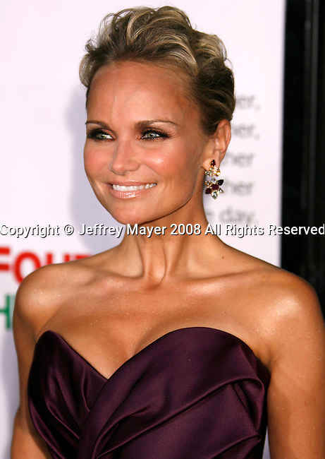 "HOLLYWOOD, CA. - November 20: Actress Kristin Chenoweth arrives at the World Premiere of ""Four Christmases"" held at the Grauman's Chinese Theatre on November 20, 2008 in Hollywood, California."