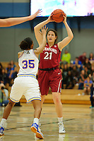 LOS ANGELES, CA - December 31, 2011:  Stanford's Sara James during play against the UCLA Bruins at the Wooden Center.   Stanford defeated UCLA, 77 - 50.
