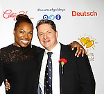 Deborah Koenigsberger (founder) wlith husband Thilo at 19th Annual HoG New York - Hearts of Gold Gala 2015 celebrating twenty-one years of support for New York City homeless mothers and their children founded by Deborah Koenigsberger on November 5, 2015 at NASDAQ MarketSite, New York City, New York. (Photo by Sue Coflin/Max Photos)