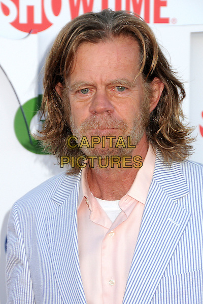 William H. Macy.CBS, CW and Showtime Summer 2011 TCA Party held at The Pagoda, Beverly Hills, California, USA..August 3rd, 2011.headshot portrait blue peach shirt beard facial hair stripe.CAP/ADM/BP.©Byron Purvis/AdMedia/Capital Pictures.