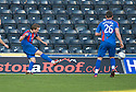 CALEY'S ANDREW SHINNIE SCORES INVERNESS' FIRST GOAL.