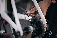 Team Trek-Segafredo mechanics go to work after every stage to get the bikes in perfect racing condition again<br /> <br /> 104th Tour de France 2017<br /> Stage 7 - Troyes &rsaquo; Nuits-Saint-Georges (214km)