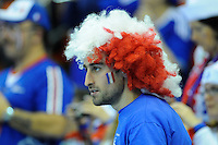 France fans during the match against Croacia