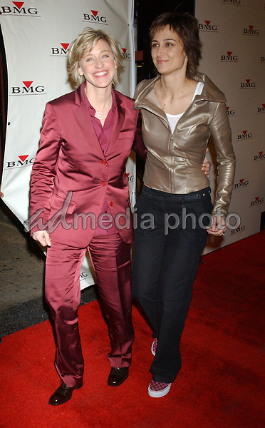 Feb. 8, 2004; Hollywood, CA, USA; Comedian ELLEN DeGENERES and girlfriend ALEXANDRA HEDISON during the BMG 46th Annual Grammy Awards Post-Grammy Gala Celebration held at The Avalon. Mandatory Credit: Photo by Laura Farr/AdMedia. (©) Copyright 2003 by Laura Farr