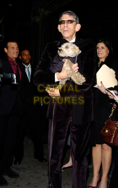 RICHARD BELZER.Creative Coalition Gala, Spotlight Awards and Christopher Reeve First Amendment Award at Duvet, New York, NY, USA,18 December 2006..full length dog pet sunglasses.CAP/ADM.©Bill Lyons/Admedia/Capital Pictures *** Local Caption ***