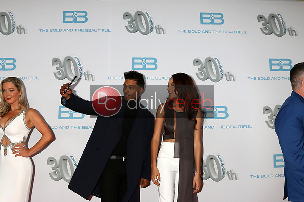 "Rome Flynn, Reign Edwards<br /> at the ""The Bold and The Beautiful"" 30th Anniversary Party, Clifton's Downtown, Los Angeles, CA 03-18-17<br /> David Edwards/DailyCeleb.com 818-249-4998"