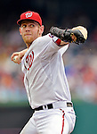 15 May 2012: Washington Nationals pitcher Stephen Strasburg faces the San Diego Padres at Nationals Park in Washington, DC. The Padres defeated the Nationals 6-1 to split their 2-game series. Mandatory Credit: Ed Wolfstein Photo