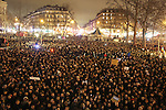 Charlie Hebdo Protest, Republique Paris France 07/01/2015