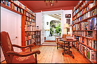 BNPS.co.uk (01202 558833)<br /> Pic: Riverhomes/BNPS<br /> <br /> Library and Garden room....<br /> <br /> Buy a bit of London Pride...Red Lion House was once the pub attached to the famous Fullers brewery in Chiswick.<br /> <br /> Yours for &pound;8million - Beer fans with deep pockets will want to get their hands on this famous former pub - as it's all but attached to the historic Fullers brewery by the Thames in Chiswick.<br /> <br /> Red Lion House, on exclusive Chiswick Mall in west London, was originally built as a pub more than 300 years ago for Thomas Mawson's brewery, which went on to become Fuller's in 1845.<br /> <br /> Back in the 18th and 19th centuries, the pub would have been a bustling hive of activity with boat crews and carters as regular customers, but it is now a tranquil and elegant riverside home.<br /> <br /> It does have an incredible wine cellar with a barrelled ceiling that is perfect for hosting parties if the new owners want to play publican.