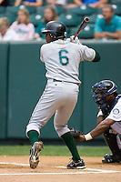 Shortstop Tim Beckham (6) of the Princeton Rays at bat at Calfee Field in Pulaski, VA, Sunday July 6, 2008. (Photo by Brian Westerholt / Four Seam Images)