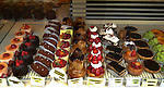 Shop window of pattiserie in the Bastille area of Paris, France