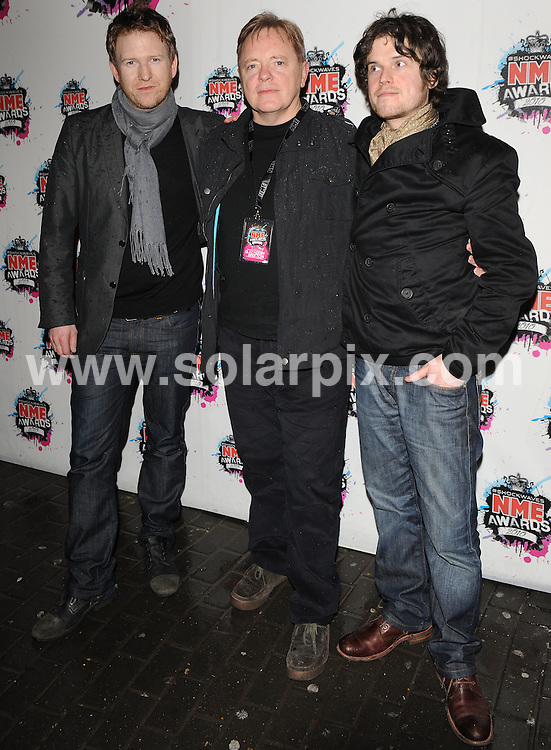 **ALL ROUND PICTURES FROM SOLARPIX.COM**.**WORLDWIDE SYNDICATION RIGHTS**.Outside arrivals at the Shockwaves NME Awards 2010, held at the Carling Brixton Academy, London, UK. 24 February 2010.This pic: New Order..JOB REF: 10788 SSD     DATE: 24_10_2010.**MUST CREDIT SOLARPIX.COM OR DOUBLE FEE WILL BE CHARGED**.**MUST NOTIFY SOLARPIX OF ONLINE USAGE**.**CALL US ON: +34 952 811 768 or LOW RATE FROM UK 0844 617 7637**