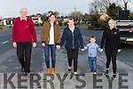 Denis Desmond, Eileen Horgan, Catherine McGillicuddy, Jay and Catherine Murphy who are asking people to participate in the Timmy Mc memorial walk in aid of Mary Mount Hospice on New Years day in Rathmore
