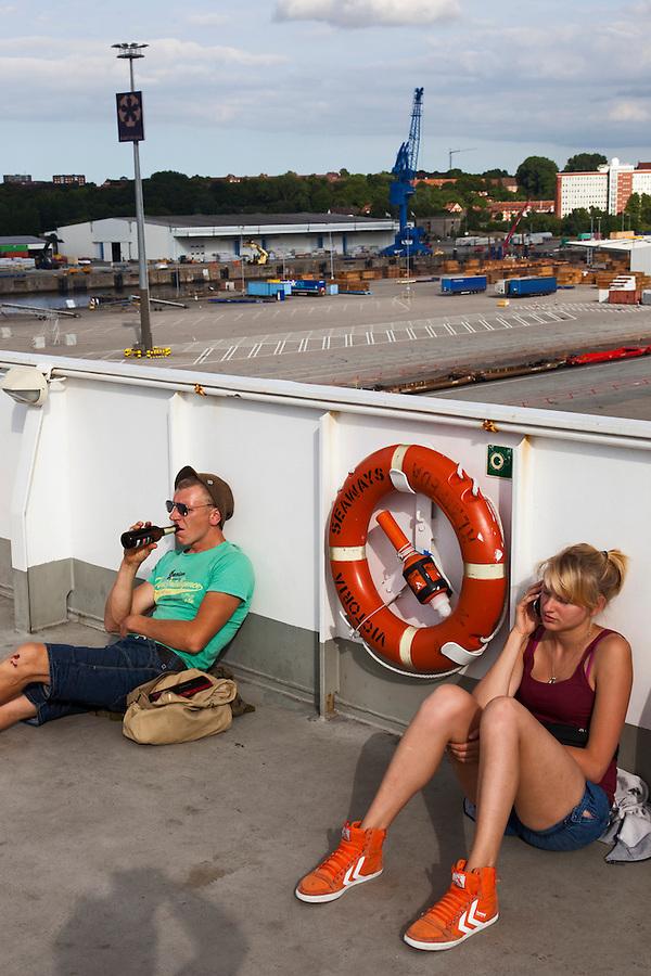 Kiel, Germany, 17/07/2013.<br /> Waiting to depart on Kiel to Klaipeda ferry.