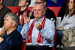 10.11.2019, Allianz Arena, Muenchen, GER, 1.FBL,  FC Bayern Muenchen vs. Borussia Dortmund, DFL regulations prohibit any use of photographs as image sequences and/or quasi-video, im Bild Uli Hoeness (Praesident FCB) <br /> <br />  Foto © nordphoto / Straubmeier