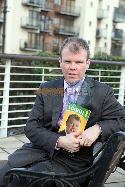 Peadar Tóibín, Navan before the election Feb 2011..(Photo credit should read Jenny Matthews www.newsfile.ie)....This Picture has been sent you under the conditions enclosed by:.Newsfile Ltd..The Studio,.Millmount Abbey,.Drogheda,.Co Meath..Ireland..Tel: +353(0)41-9871240.Fax: +353(0)41-9871260.GSM: +353(0)86-2500958.email: pictures@newsfile.ie.www.newsfile.ie.
