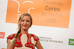 Maria Esteve poses for the photographers during 2015 Theater Ceres Awards photocall at Merida, Spain, August 27, 2015. <br /> (ALTERPHOTOS/BorjaB.Hojas)