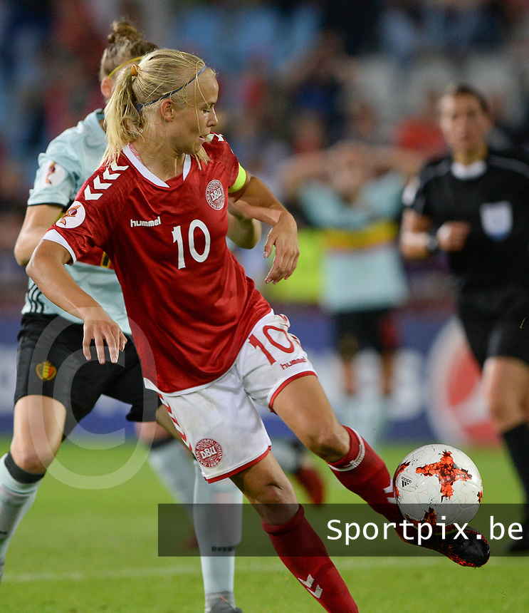 20170716 - DOETINCHEM , NETHERLANDS : Danish Pernille Harder pictured during the female soccer game between Denmark and the Belgian Red Flames  , the frist game in group A at the Women's Euro 2017 , European Championship in The Netherlands 2017 , Sunday 16 th June 2017 at Stadion de Vijverberg in Doetinchem , The Netherlands PHOTO SPORTPIX.BE | DAVID CATRY