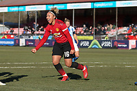 Lauren James of Manchester United Women celebrates her goal in the second half during Brighton & Hove Albion Women vs Manchester United Women, SSE Women's FA Cup Football at Broadfield Stadium on 3rd February 2019