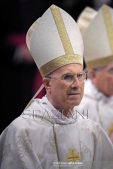 Cardinal Tarcisio Bertone,Pope Benedict XVI celebrates the midndight Christmas mass at St. Peter's Basilica in Vatican City on December 24, 2012