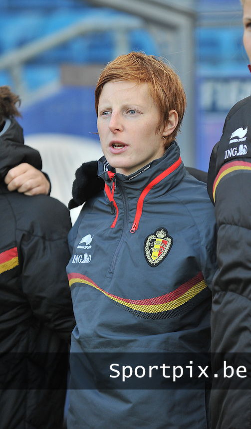 20130925 - OSLO , NORWAY : Belgian Lien Mermans  pictured during the female soccer match between Norway and Belgium , on the second matchday in group 5 of the UEFA qualifying round to the FIFA Women World Cup in Canada 2015 at the Ullevaal Stadion , Oslo . Wednesday 25th September 2013. PHOTO DAVID CATRY