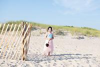 Wedding ceremony on the beach. Kaitlin and Liam's wedding. Barn, Bridgehampton, New York, USA