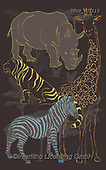 Lamont, GIFT WRAPS, GESCHENKPAPIER, PAPEL DE REGALO, paintings+++++,USGTPC1115,#gp#, EVERYDAY ,notebook,notebooks,zebra,rhino