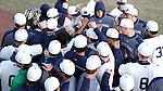 CARY, NC - MARCH 04: Notre Dame's players huddle before the game. The University of Rhode Island Rams played the University of Notre Dame Fighting Irish on March 4, 2017, at USA Baseball NTC Field 3 in Cary, NC in a Division I College Baseball game, and part of the Irish Classic tournament. Notre Dame won the game 8-4.