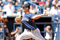 March 17th 2008:  Javier Lopez of the Boston Red Sox during a Spring Training game at Legends Field in Tampa, FL.  Photo by:  Mike Janes/Four Seam Images