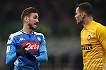 Fabian Ruiz of Napoli discusses with Daniele Padelli of Inter  during the Coppa Italia match at Giuseppe Meazza, Milan. Picture date: 12th February 2020. Picture credit should read: Jonathan Moscrop/Sportimage
