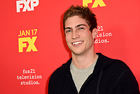 """HOLLYWOOD - JANUARY 8: James Morosini attends the Red Carpet Premiere Event for FX's """"The Assassination of Gianni Versace: American Crime Story"""" at ArcLight Hollywood on January 8, 2018, in Hollywood, California. (Photo by Scott Kirkland/FX/PictureGroup)"""