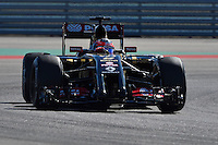 Romain Grosjean of Lotus F1 Team driving (8) E22 during first practice session of  2014 Formula 1 United States Grand Prix, Friday, October 31, 2014 in Austin, Tex. (Mo Khursheed/TFV Media via AP Images)