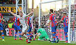 Sheffield United's Jack O'Connell celebrates after Oliver Norwood (not pictured) scores directly from a free kick during the Premier League match at Selhurst Park, London. Picture date: 1st February 2020. Picture credit should read: Paul Terry/Sportimage