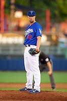 Tulsa Drillers pitcher Chris Anderson (32) during a game against the Midland RockHounds on June 2, 2015 at Oneok Field in Tulsa, Oklahoma.  Midland defeated Tulsa 6-5.  (Mike Janes/Four Seam Images)