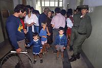 - Albania, Settembre 1991, gente in attesa presso il poliambulatorio nella città di Durazzo<br /> <br /> - Albania, September 1991, people waiting at the outpatient clinic in the town of Durres