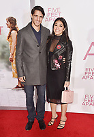 WESTWOOD, CA - MARCH 07: Joe Locicero (L) and Gina Rodriguez attend the Premiere Of Lionsgate's 'Five Feet Apart' at Fox Bruin Theatre on March 07, 2019 in Los Angeles, California.<br /> CAP/ROT/TM<br /> &copy;TM/ROT/Capital Pictures