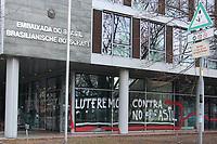 05.01.2019 - Embaixada brasileira em Berlim é pichada