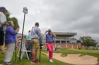 Trey Mullinax (USA) departs 18 after shooting a course record 62 during Round 3 of the Valero Texas Open, AT&T Oaks Course, TPC San Antonio, San Antonio, Texas, USA. 4/21/2018.<br /> Picture: Golffile | Ken Murray<br /> <br /> <br /> All photo usage must carry mandatory copyright credit (© Golffile | Ken Murray)