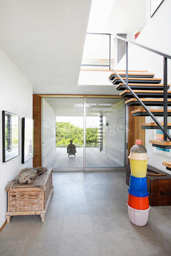 hanging staircase in the hallway