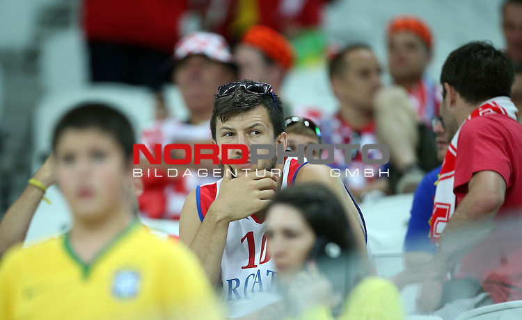 2014 Fifa World Cup opening game from group A against Brazil and Croatia.<br /> Croatian supporters<br /> <br /> Foto &copy;  nph / PIXSELL / Sajin Strukic