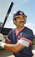Cleveland Indians Jose Hernandez during Spring Training 1993 at Chain of Lakes Park in Winter Haven, Florida.  (MJA/Four Seam Images)