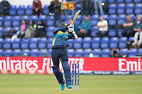 Isuru Udana (Sri Lanka) gets under a short delivery and helps it on its way during Afghanistan vs Sri Lanka, ICC World Cup Cricket at Sophia Gardens Cardiff on 4th June 2019