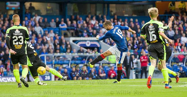 Niko Kranjcar scores goal no 3 for Rangers