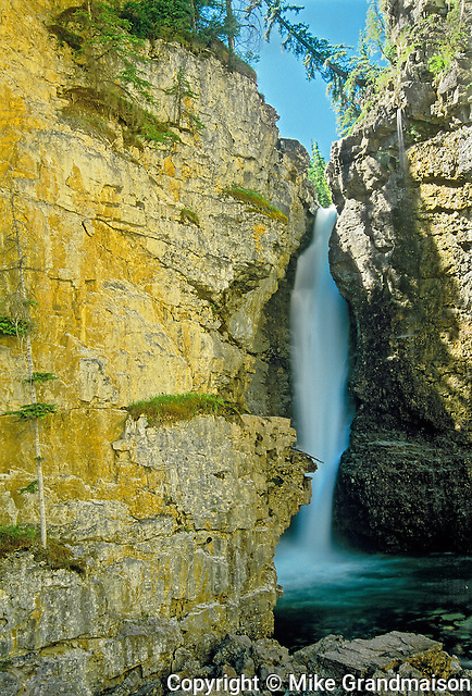 Upper Waterfall in Johnston Canyon<br /> Banff National Park<br /> Alberta<br /> Canada