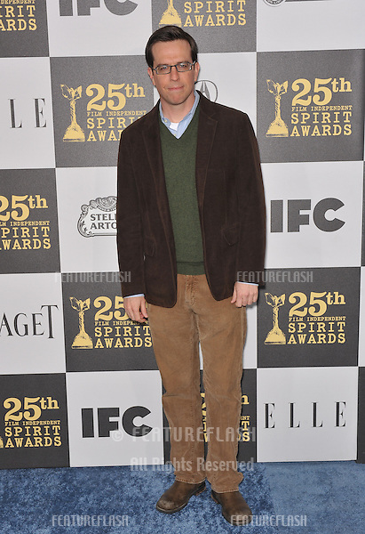 Ed Helms at the 25th Anniversary Film Independent Spirit Awards at the L.A. Live Event Deck in downtown Los Angeles..March 5, 2010  Los Angeles, CA.Picture: Paul Smith / Featureflash