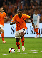 Steven Bergwijn (Niederlande) - 13.10.2018: Niederlande vs. Deutschland, 3. Spieltag UEFA Nations League, Johann Cruijff Arena Amsterdam, DISCLAIMER: DFB regulations prohibit any use of photographs as image sequences and/or quasi-video.