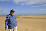 Normandy, WWII veteran Henry Hirschmann in Omaha Beach on the 70th Anniversary of D-DAY