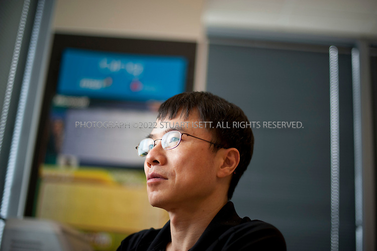 6/20/2011--Bellevue, WA, USA..Qi Lu (President, Online Services Division),  in his office in Microsoft's Bellevue offices. Microsoft's Bing search tool was unveiled by Microsoft CEO Steve Ballmer on May, 2009...©2011 Stuart Isett. All rights reserved.